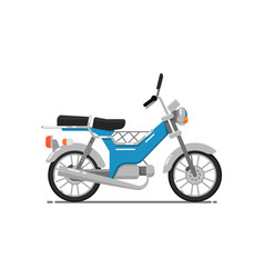 Old style motorbike isolated on white icon vector