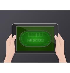 Online poker online gambling hobby vector image