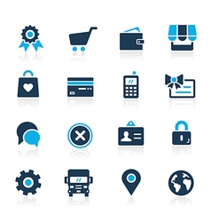 Online store icons azure vector