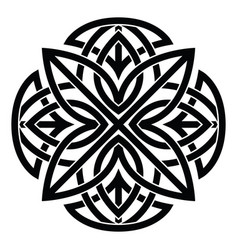 Ornament decorative celtic knots and curls vector