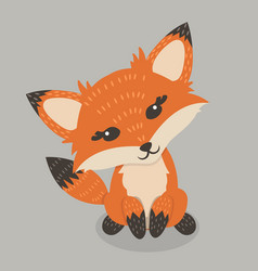 red fox cartoon vector image