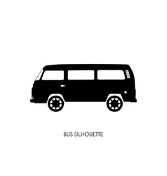 Retro bus silhouette on a white background vector image