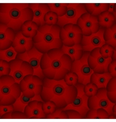 Seamless background of poppies vector image