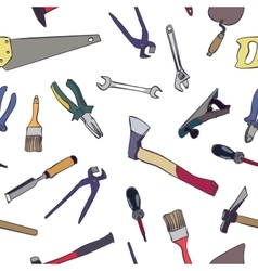 seamless work tools pattern vector image vector image