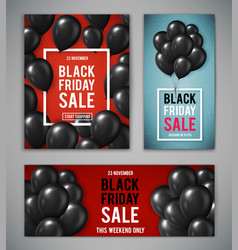 set banners for black friday sale vector image