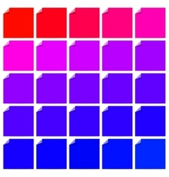 Set of curl flat paper corner vector image