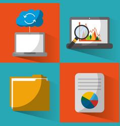 Set of data base center server file document vector