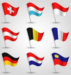set of flags countries of western europe vector image