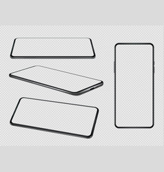smartphones mockup mobile phones empty screens vector image
