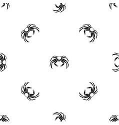 snow crab pattern seamless black vector image