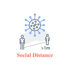 social distance keep away avoid contact vector image