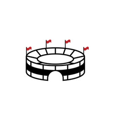 stadium icon design template isolated vector image