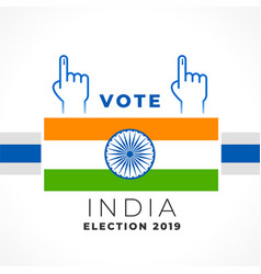 stylish vote india banner design vector image