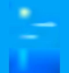 sunny sea landscape vector image