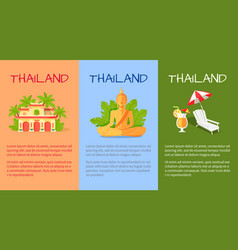 thailand banner with traditional oriental signs vector image
