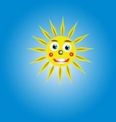 The sun in the sky the sun vector