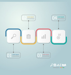 Timeline infographics 4 steps for business vector