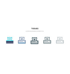Tissues icon in different style two colored and vector