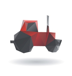 Tractor abstract isolated on a white backgrounds vector image vector image