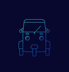 Tuk icon linear vector