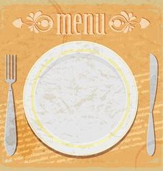 Vintage card - the restaurant menu vector