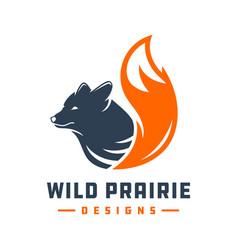Wild fox animal logo design your company vector