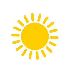 yellow sun icon and symbol vector image