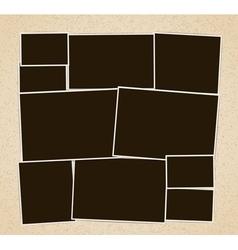 Photo frames album vector image
