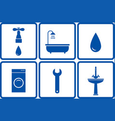 set of bath objects vector image