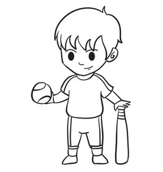 character of kid sport collection vector image