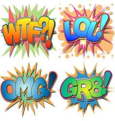 Comic Book Abbreviations vector image vector image