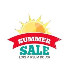 Emblems for big summer sales vector image vector image