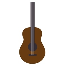 guitar music retro song isolated vector image