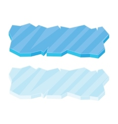 Ice floe icon set vector image vector image