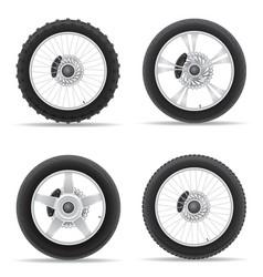 motorcycle wheel 05 vector image