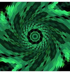 Spiral swirl of green color vector image