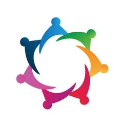 Teamwork meeting logo vector