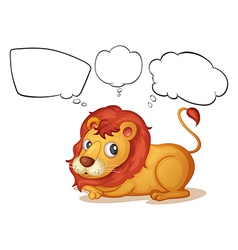 A young lion with empty callouts vector image vector image