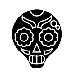 catrina icon black sign on vector image vector image
