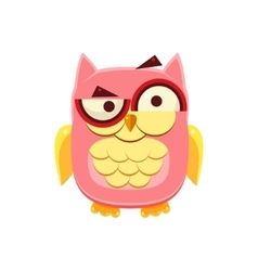 Confused Pink Owl vector image vector image