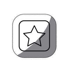 figure symbol star icon vector image