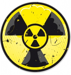 grunge nuclear power sign vector image vector image