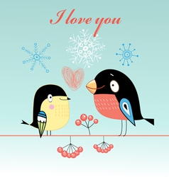 lovers tit and bullfinch vector image