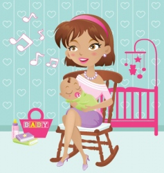 lullaby baby vector image vector image