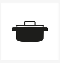pot icon in simple monochrome style vector image