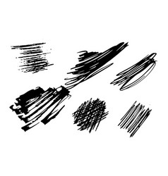 set of black and white abstract texture vector image