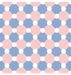 White Polka dot Chess Board Grid Rose Quartz vector image vector image