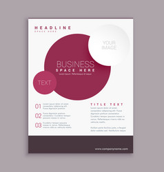 corporate business brochure flyer design with vector image vector image