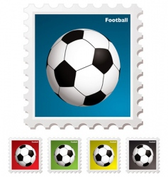 football world stamp vector image vector image