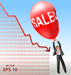 Sales plan disaster vector image vector image